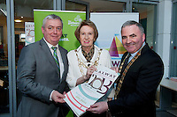 Galway launches 200 Gatherings ! Come home to Irelands Cultural Heart  with help of Galway Bay FM and Chairperson Galway Gatherings Steering Group  Keith Finnegan Galway County Mayor Cllr Tom Welby  Galway City Mayor Cllr Terry O Flaherty  at Aras An Contae. Picture Andrew Downes.