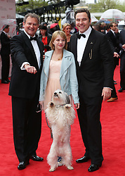 Hugh Bonneville, Pudsey and David Walliams arriving at the BAFTA Television Awards in London, Sunday, May 12th  2013.  Photo by: Stephen Lock / i-Images