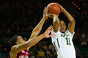 WACO, TX - JANUARY 24: Lester Medford #11 of the Baylor Bears shoots the ball against the Oklahoma Sooners on January 24, 2015 at the Ferrell Center in Waco, Texas.  (Photo by Cooper Neill/Getty Images) *** Local Caption *** Lester Medford