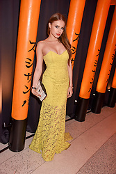 Xenia Tchoumitcheva at Sambazonia presented by Sushisamba and Cool Earth at SushiSamba, 110 Bishopsgate, City of London England. 28 February 2017.
