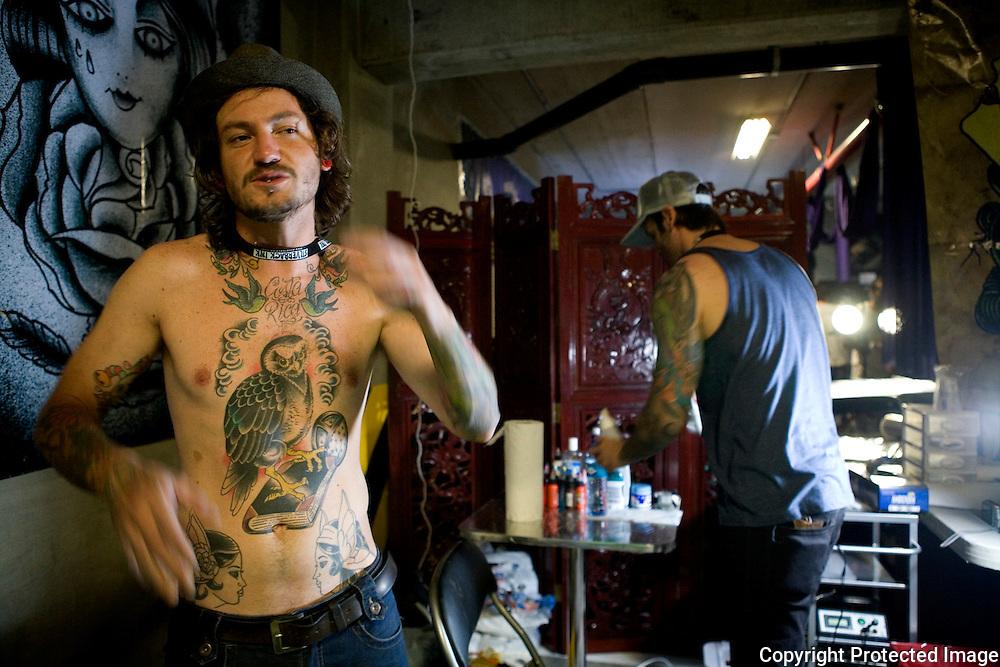 Negus, tattoo artist