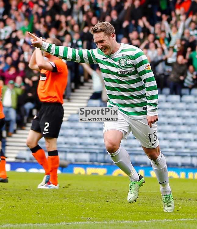 Dundee United v Celtic Scottish Cup Semi Final....Kris Commons celebrates scoreing for Celtic.....(c) STEPHEN LAWSON | StockPix.eu