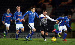 Ricky Miller of Peterborough United battles for the ball with Ollie Rathbone of Rochdale - Mandatory by-line: Joe Dent/JMP - 25/11/2017 - FOOTBALL - Crown Oil Arena - Rochdale, England - Rochdale v Peterborough United - Sky Bet League One