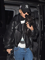 Singer Rita Ora arriving back in London from Paris with her ting dog 'Cher'. London, UK. 02/04/2015<br />BYLINE MUST READ : GOTCHAIMAGES.COM<br /><br />Copyright by © Gotcha Images Ltd. All rights reserved.<br />Usage of this image is conditional upon the acceptance <br />of Gotcha Images Ltd, terms and conditions available at<br />www.gotchaimages.com