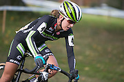 Kaitlin Antonneau competes in the Elite Women's race at the Ellison Park Cyclocross Festival in Rochester on Saturday, October 11, 2014.