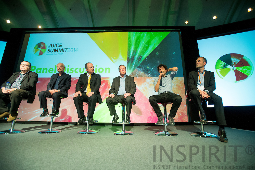 Supply Chain Panel Discussion on the first day at the Juice Summit in Antwerp 15 - 16 October 2014. Photo: Erik Luntang