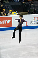 KELOWNA, BC - OCTOBER 26: Japanese figure skater Yuzuru Hanyu warms up during the men's long program / free skate of Skate Canada International held at Prospera Place on October 26, 2019 in Kelowna, Canada. (Photo by Marissa Baecker/Shoot the Breeze)