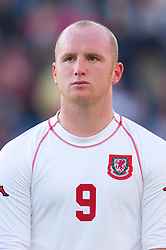 OSLO, NORWAY - Wednesday, September 5, 2001: Wales' John Hartson during the FIFA World Cup 2002 Qualifying Group 5 match against Norway at the Ullevaal Stadion. (Pic by David Rawcliffe/Propaganda)