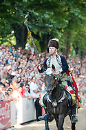 Sinjska Alka, in the town of Sinj, Croatia (4 August 2013). Now in its 298th year, the Alka is a knightly tournament dating back to 1715, in which riders compete to spear a small metal ring from a galloping horse. The Alka is inscribed on the UNESCO list of Intangible Cultural Heritage.