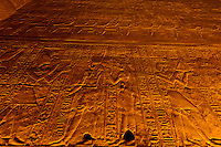 Hieroglyphics, Temple of Horus, Edfu (on the Nile River), Egypt