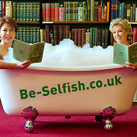 "London September 7th Author Kathy Latte and celeb mum Neil McAndrew are pictured  at the London Library having a ""bath in"" to encourage busy mums across the UK to take more selfish moments. It marks the launch of Kathy Latte's waterproof book ""All steamed up"" ,...Standard Licence feee's apply  to all image usage.Marco Secchi - Xianpix tel +44 (0) 7717 298571.http://www.marcosecchi.com"