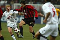 Milan 08-03-2005<br />Champions League 2004-2005<br />Milan Manchester United<br />nella  foto Kakà Scholes<br />Foto Snapshot / Graffiti