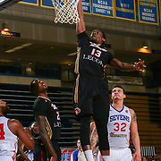 Erie BayHawks Forward AARON BOWEN (13) dunks the ball in the first half of a NBA D-league regular season basketball game between the Delaware 87ers and the Erie BayHawks Tuesday, Mar. 29, 2016, at The Bob Carpenter Sports Convocation Center in Newark, DEL.