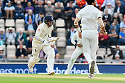 Sam Curran of England takes a quick single during the first day of the 4th SpecSavers International Test Match 2018 match between England and India at the Ageas Bowl, Southampton, United Kingdom on 30 August 2018.