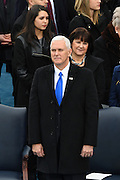 Vice President elect Mike Pence stands at the start of the 68th Inaugural ceremony January 20, 2017 in Washington, DC. Donald Trump became the 45th President  of the United States of America.