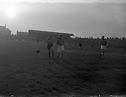 24/04/1957<br /> 04/24/1957<br /> 24 April 1957<br /> Soccer Top Four Competition  Semi-Final: Evergreen Utd v Sligo Rovers at Dalymount Park, Dublin.
