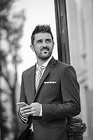 New York City F.C. David Villa poses for a portrait in front of Yankee  Stadium.<br /> <br /> (Photo/Tom DiPace for ESPN LaRevista)