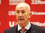 Middlesbrough Manager Tony Pulis' post match press conference during the EFL Sky Bet Championship match between Middlesbrough and Ipswich Town at the Riverside Stadium, Middlesbrough, England on 29 December 2018.