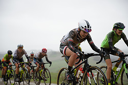 Juliette Labous on sector five at Strade Bianche - Elite Women 2018 - a 136 km road race on March 3, 2018, starting and finishing in Siena, Italy. (Photo by Sean Robinson/Velofocus.com)