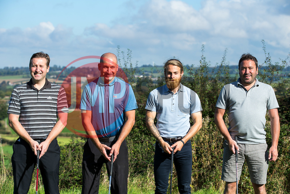 Stuart Sinclair of Bristol Rovers joins Team Lancer Scott as they take part in the annual Bristol Rovers Golf Day - Rogan Thomson/JMP - 10/10/2016 - GOLF - Farrington Park - Bristol, England - Bristol Rovers Golf Day.