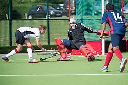 Brighton & Hove v Southgate - Men's Hockey League - Conference East, Trent Park, London, UK on 18 September 2016. Photo: Simon Parker