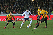 Tottenham Hotspur Heung- Min Son (7) on the ball during the The FA Cup 4th round match between Newport County and Tottenham Hotspur at Rodney Parade, Newport, Wales on 27 January 2018. Photo by Gary Learmonth.
