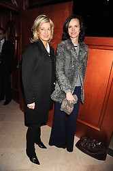 Left to right, ALISON JACKSON and BETTINA VON HASE at a party to celebrate the 10th birthday issue of Spears Wealth Management Survey held at Molton House, South Molton Street, London on 25th November 2008.