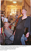 Jemma Kidd and Jodie Kidd backstage at Bella Freud's fashion show. Cafe Royal. London 23 February 1998. film 9849f13<br />