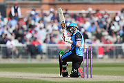 Worcestershire's Hamish Rutherford  during the Royal London 1 Day Cup match between Lancashire County Cricket Club and Worcestershire County Cricket Club at the Emirates, Old Trafford, Manchester, United Kingdom on 17 April 2019.