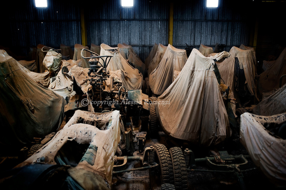 LIBYA, BENGHAZI. Tens of anti-aircraft wepons in a warehouse in a undisclosed location south-east of Benghazi on, March 1, 2011. ALESSIO ROMENZI