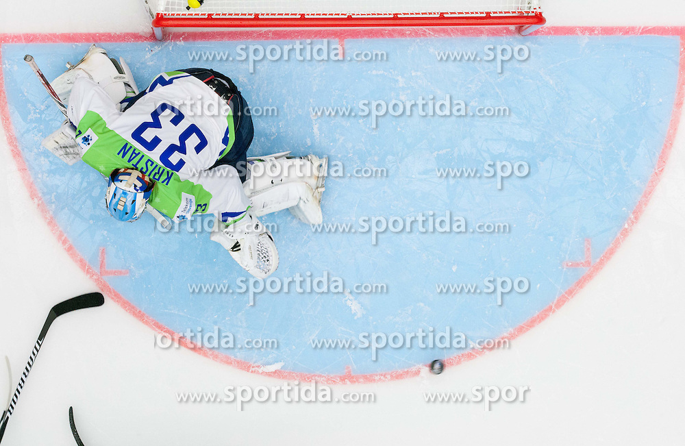 Robert Kristan of Slovenia during Ice Hockey match between Belarus and Slovenia at Day 2 in Group B of 2015 IIHF World Championship, on May 2, 2015 in CEZ Arena, Ostrava, Czech Republic. Photo by Vid Ponikvar / Sportida