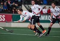 AMSTELVEEN - Boris Burkhardt (Adam)   tijdens de hoofdklasse hockeywedstrijd Amsterdam-HC Rotterdam (7-1).    COPYRIGHT KOEN SUYK