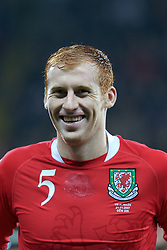 FRANKFURT, GERMANY - Wednesday, November 21, 2007: Wales' James Collins before the final UEFA Euro 2008 Qualifying Group D match against Germany at the Commerzbank Arena. (Pic by David Rawcliffe/Propaganda)
