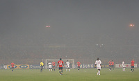 Photo: Steve Bond/Richard Lane Photography.<br />Egypt v Sudan. Africa Cup of Nations. 26/01/2008. The smoke filled atmosphere of Kumasi