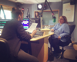 """Russell Brand releases a photo on Twitter with the following caption: """"""""Will Spirituality Solve Our Global Problems?<br /> Listen to the discussion with @SharonSalzberg on iTunes, TuneIn or here https://t.co/wU1TV1dLHm"""""""". Photo Credit: Twitter *** No USA Distribution *** For Editorial Use Only *** Not to be Published in Books or Photo Books ***  Please note: Fees charged by the agency are for the agency's services only, and do not, nor are they intended to, convey to the user any ownership of Copyright or License in the material. The agency does not claim any ownership including but not limited to Copyright or License in the attached material. By publishing this material you expressly agree to indemnify and to hold the agency and its directors, shareholders and employees harmless from any loss, claims, damages, demands, expenses (including legal fees), or any causes of action or allegation against the agency arising out of or connected in any way with publication of the material."""