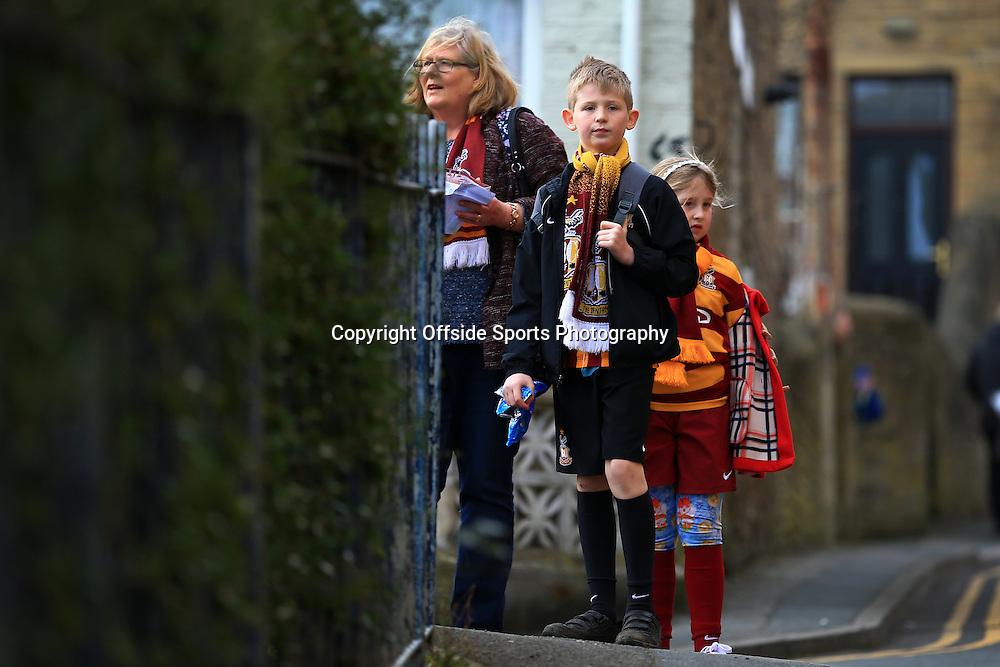 7th March 2015 - FA Cup - Quarter-Final - Bradford City v Reading - Bradford fans - Photo: Simon Stacpoole / Offside.