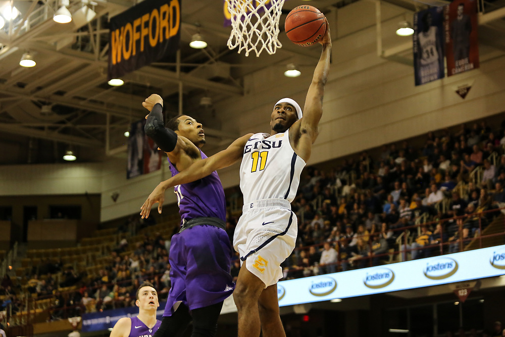 March 4, 2018 - Asheville, North Carolina - U.S. Cellular Center: ETSU guard Devontavius Payne (11)<br /> <br /> Image Credit: Dakota Hamilton/ETSU