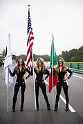 August 23-25 2019: Lamborghini Super Trofeo: Virginia International Raceway. Lamborghini grid girls