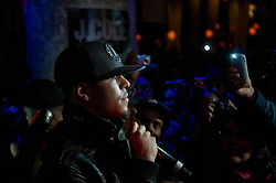 .---.Mar 30, 2010 : Manhattan, NY :.SOBs, 204 Varick Street, New  York, New York..Summary: J Cole, performing at SOBs..---.Rob Bennett for The New York Times