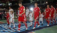 Photo: Paul Thomas.<br /> AC Milan v Liverpool. UEFA Champions League Final. 23/05/2007.<br /> <br /> Steven Gerrard (8) leads out Liverpool.