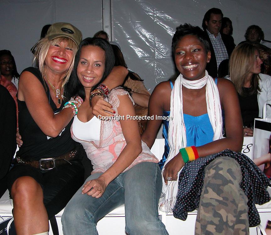 Betsey Johnson &amp; Claudine <br />Fusha Fashion Show Front Row &amp; backstage<br />The Bryant Tent, Bryant Park<br />New York City, NY, USA<br />Saturday, September, 13, 2003 <br />Photo By Celebrityvibe.com/Photovibe.com