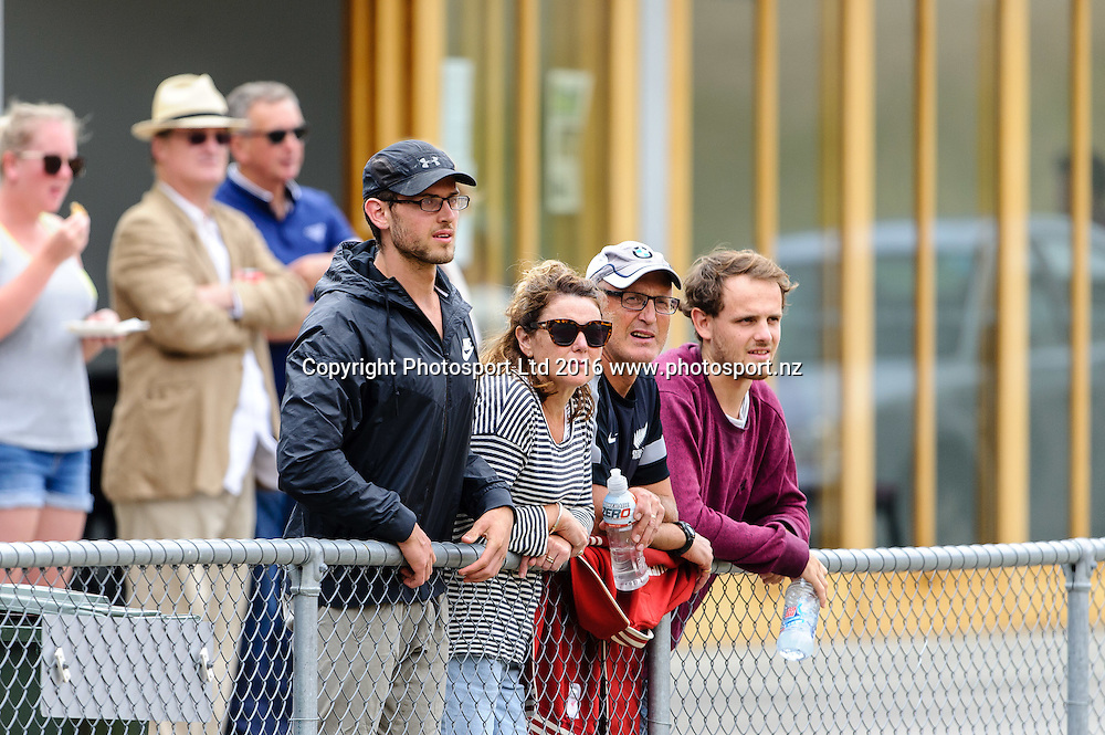 Supporters watching on during ASB premiership Wellington Phoenix vs. Hawke's Bay United match at Newtown Park, Wellington, New Zealand. Saturday 6th February  2016. Copyright Photo: Mark Tantrum / www.Photosport.nz