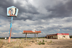 Abandoned gas station in New Mexico