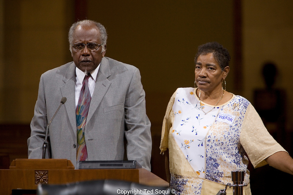 Porter and Mary Alexander speak to the LA City Council about their slain daughter Monique.<br /> LA Council offers reward in &quot;Grim Sleeper&quot; Serial Killer Case.<br /> A $500,000 reward was offered today for information<br /> leading to the arrest and conviction of a serial killer believed to be responsible for at least 11 murders in South Los Angeles between 1985 and 2007.<br />    Dubbed the ``Grim Sleeper'' by the LA Weekly, the suspect has killed nine people in the city of Los Angeles, one in Inglewood and one in an unincorporated area of the county in the last 23 years.