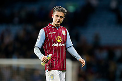 Jack Grealish of Aston Villa (making his first Premier League start) looks dejected after the match ends in a 3-3 draw - Photo mandatory by-line: Rogan Thomson/JMP - 07966 386802 - 07/04/2015 - SPORT - FOOTBALL - Birmingham, England - Villa Park - Aston Villa v Queens Park Rangers - Barclays Premier League.