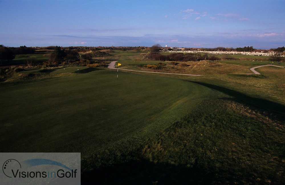 020526/Southport &amp; Ainsdale GC, Lancashire, UK/Photo Mark Newcombe<br /> <br /> A view from the 8th green showing a cemetary