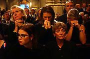 Poeple pray at mass at St. Patrick's Catheadral in Manhattan, NY. 9/16/2001 Photo by Jennifer S. Altman
