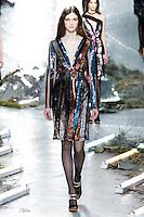 Anka Kuryndina (SUPREME) walks the runway wearing Rodarte Fall 2015 during Mercedes-Benz Fashion Week in New York on February 17, 2015