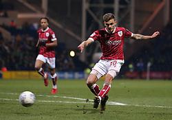 Jamie Paterson of Bristol City shoots at goal - Mandatory by-line: Robbie Stephenson/JMP - 06/03/2018 - FOOTBALL - Deepdale - Preston, England - Preston North End v Bristol City - Sky Bet Championship