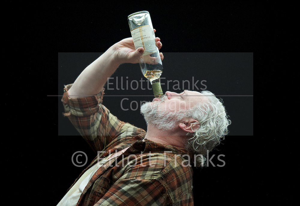 Forget Me Not <br /> by Tom Holloway <br /> directed by Steven Atkinson<br /> at The Bush Theatre, London, Great Britain <br /> press photocall <br /> 10th December 2015 <br /> <br /> Russell Floyd (as Gerry)<br /> <br /> <br />  <br /> Photograph by Elliott Franks <br /> Image licensed to Elliott Franks Photography Services